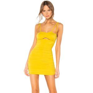 h:ours Zaylee Mini Dress in Bright Yellow